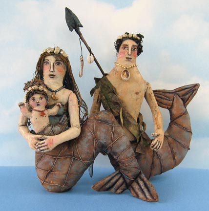 Mermaid and family