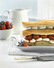 Roasted strawberry napoleon