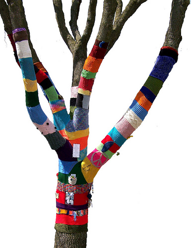 Knit knot tree by Corrine B