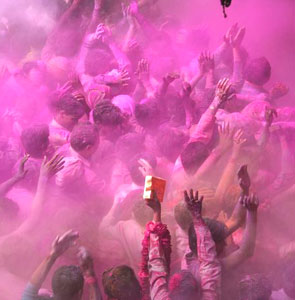 Pink crowd