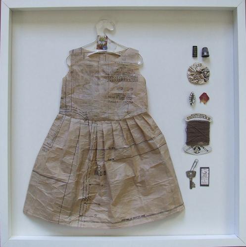Pattren_paper_dress_framed